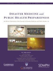 Disaster Medicine and Public Health Preparedness Volume 11 - Issue 2 -