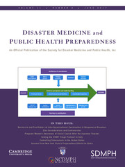 Disaster Medicine and Public Health Preparedness Volume 11 - Issue 3 -