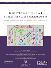 Disaster Medicine and Public Health Preparedness Volume 11 - Issue 4 -