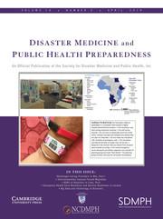 Disaster Medicine and Public Health Preparedness Volume 13 - Issue 2 -
