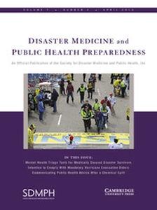 Disaster Medicine and Public Health Preparedness Volume 7 - Issue 2 -
