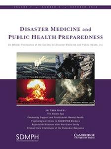 Disaster Medicine and Public Health Preparedness Volume 7 - Issue 5 -