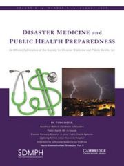 Disaster Medicine and Public Health Preparedness Volume 9 - Issue 4 -