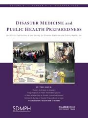 Disaster Medicine and Public Health Preparedness Volume 9 - Issue 6 -