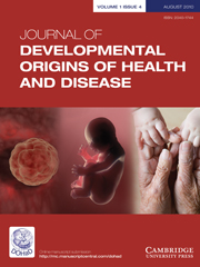 Journal of Developmental Origins of Health and Disease Volume 1 - Issue 4 -