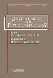 Development and Psychopathology Volume 20 - Issue 1 -
