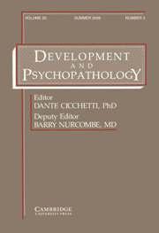 Development and Psychopathology Volume 20 - Issue 3 -
