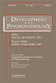 Development and Psychopathology Volume 20 - Special Issue4 -  Imaging Brain Systems in Normality and Psychopathology
