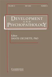 Development and Psychopathology Volume 21 - Issue 2 -