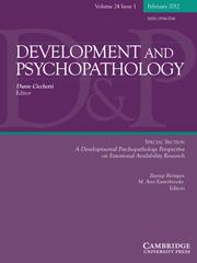 Development and Psychopathology Volume 24 - Issue 1 -