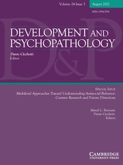 Development and Psychopathology Volume 24 - Issue 3 -  Multilevel Approaches Toward Understanding Antisocial Behavior: Current Research and Future Directions