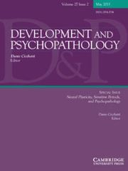 Development and Psychopathology Volume 27 - Issue 2 -  Neural Plasticity, Sensitive Periods, and Psychopathology