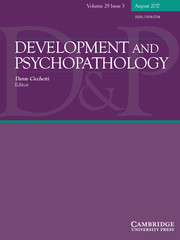 Development and Psychopathology Volume 29 - Issue 3 -