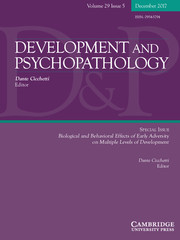 Development and Psychopathology Volume 29 - Special Issue5 -  Biological and Behavioral Effects of Early Adversity on Multiple Levels of Development