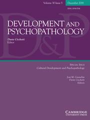 Development and Psychopathology Volume 30 - Special Issue5 -  Cultural Development and Psychopathology