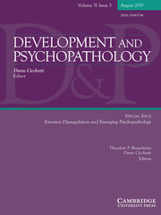 Development and Psychopathology Volume 31 - Special Issue3 -  Emotion Dysregulation and Emerging Psychopathology