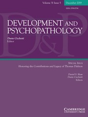 Development and Psychopathology Volume 31 - Special Issue5 -  Honoring the Contributions and Legacy of Thomas Dishion