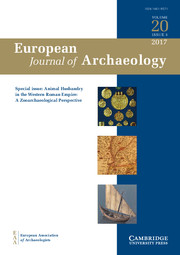 European Journal of Archaeology Volume 20 - Special Issue3 -  Animal Husbandry in the Western Roman Empire: A Zooarchaeological Perspective