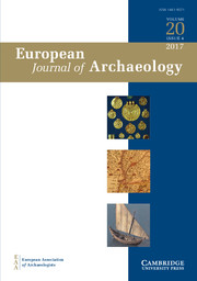 European Journal of Archaeology Volume 20 - Issue 4 -