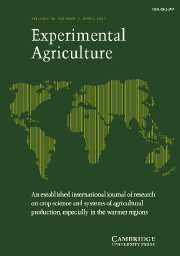 Experimental Agriculture Volume 43 - Issue 2 -