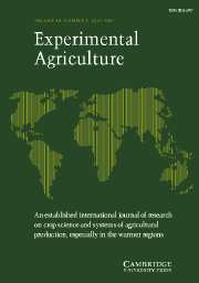 Experimental Agriculture Volume 43 - Issue 3 -