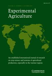 Experimental Agriculture Volume 43 - Issue 4 -