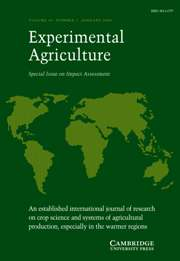Experimental Agriculture Volume 44 - Issue 1 -