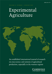 Experimental Agriculture Volume 45 - Issue 1 -