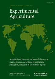 Experimental Agriculture Volume 48 - Issue 2 -