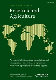 Experimental Agriculture Volume 50 - Issue 2 -