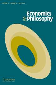 Economics & Philosophy Volume 19 - Issue 1 -