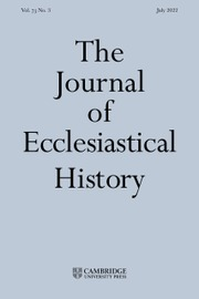 The Journal of Ecclesiastical History