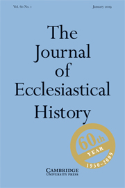 The Journal of Ecclesiastical History Volume 60 - Issue 1 -