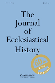 The Journal of Ecclesiastical History Volume 60 - Issue 3 -