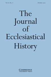 The Journal of Ecclesiastical History Volume 61 - Issue 4 -