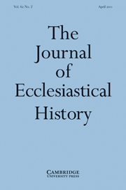 The Journal of Ecclesiastical History Volume 62 - Issue 2 -