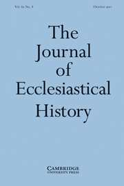 The Journal of Ecclesiastical History Volume 62 - Issue 4 -