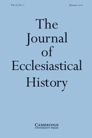 The Journal of Ecclesiastical History Volume 63 - Issue 1 -