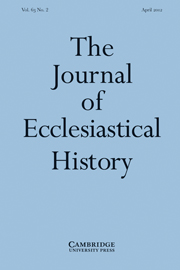 The Journal of Ecclesiastical History Volume 63 - Issue 2 -