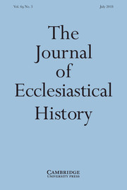 The Journal of Ecclesiastical History Volume 69 - Issue 3 -