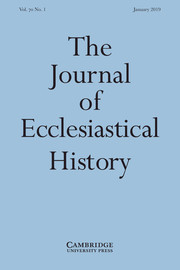 The Journal of Ecclesiastical History Volume 70 - Issue 1 -
