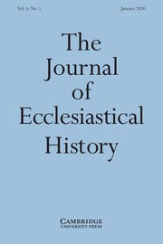 The Journal of Ecclesiastical History Volume 71 - Issue 1 -