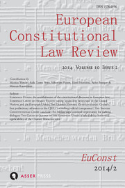 European Constitutional Law Review Volume 10 - Issue 2 -