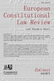 European Constitutional Law Review Volume 12 - Issue 1 -