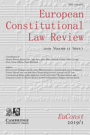 European Constitutional Law Review Volume 15 - Issue 1 -