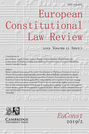 European Constitutional Law Review Volume 15 - Issue 2 -