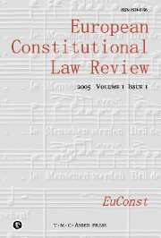 European Constitutional Law Review Volume 1 - Issue 1 -