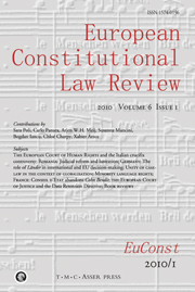 European Constitutional Law Review Volume 6 - Issue 1 -