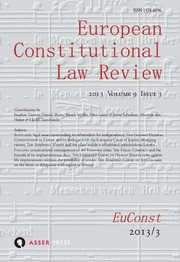 European Constitutional Law Review Volume 9 - Issue 3 -