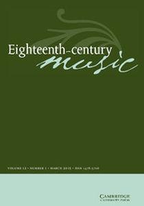 Eighteenth-Century Music Volume 12 - Issue 1 -